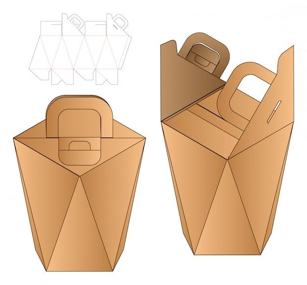 Papiertüte verpackung gestanzte vorlage