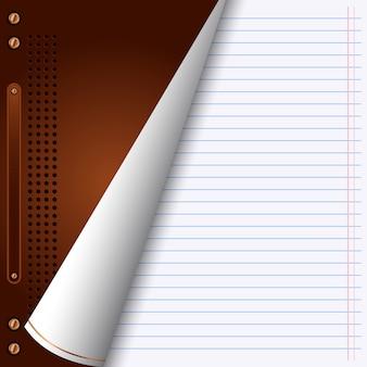 Papiervektorhintergrund mit geöffneter abdeckung