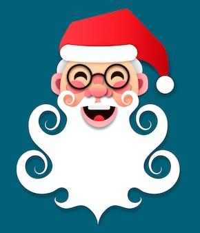 Papierweihnachtsmann frohe weihnachten und vektor des neuen jahres