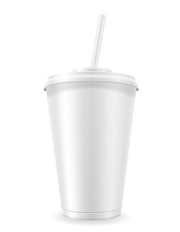 Pappbecher für soda auf weiß