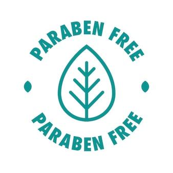 Parabenfreies vektor-kosmetiketikett für natürliche inhaltsstoffe umweltfreundliches hautpflege-gesundheitsprodukt