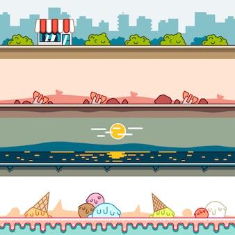 Parallaxe-hintergründe für videospiele