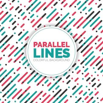 Parallele Diagonale überlappende Farblinien Hintergrundmuster