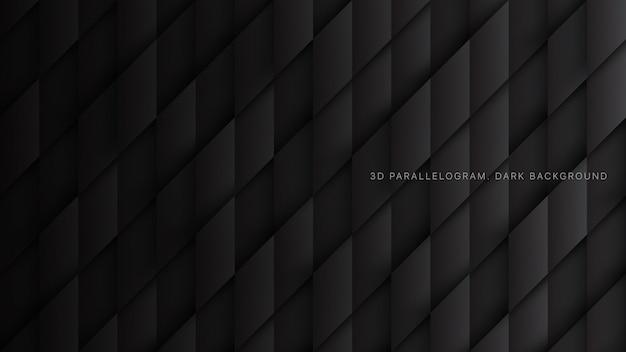 Parallelogramme 3d schwarzer abstrakter begrifflichhintergrund