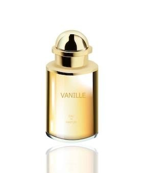 Parfüm-kosmetik-paket vektor realistische mock-up