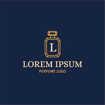 Parfüm-logo mit luxus-stil