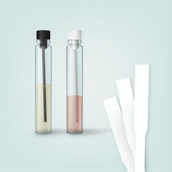 Parfüm-testfläschchen und duftstreifen