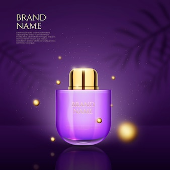 Parfüm und 3d-punkte entwerfen werbung