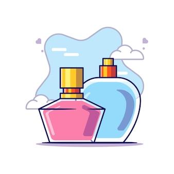 Parfüm zu frauentag vektor-symbol illustration