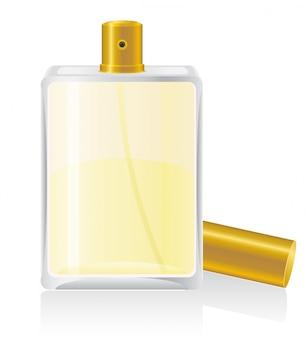 Parfüme in der flaschenvektorillustration