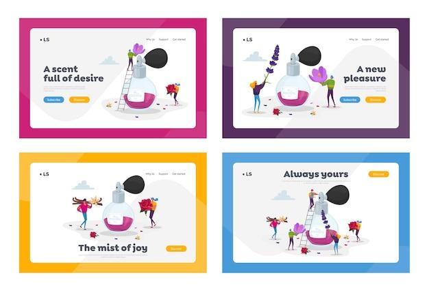Parfümerie aroma zusammensetzung landing page template set