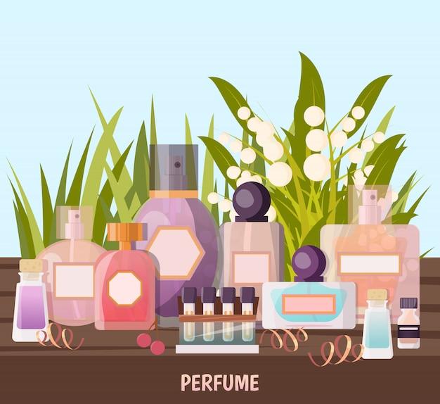 Parfümerie-hintergrund