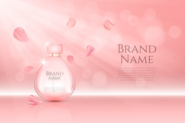 Parfümflasche kosmetische anzeige