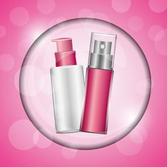 Parfum und spray lotion kosmetika