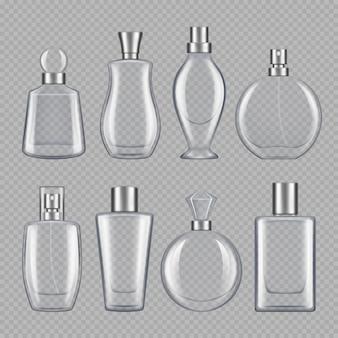 Parfums für männer und frauen. verschiedene flaschen parfüm