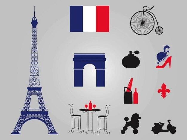 Paris eiffelturm architektur vektoren