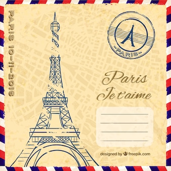 Paris je t'aime postkarte