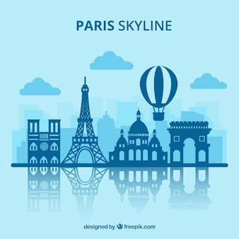 Paris skyline design