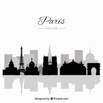 Paris-skyline-konzept