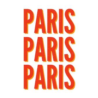 Paris-typografieslogan-beschriftung