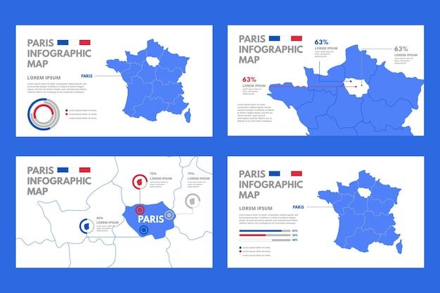 Pariser karteninfografiken