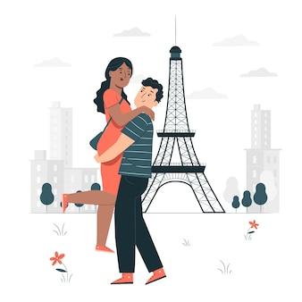Pariser konzeptillustration