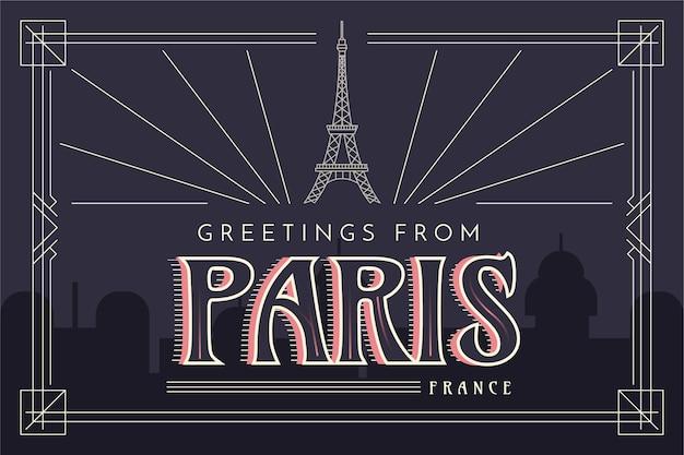 Pariser stadt schriftzug