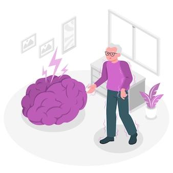 Parkinson-konzeptillustration