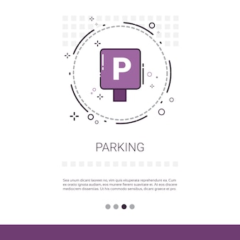 Parkplatz öffentliche Zeichen Banner