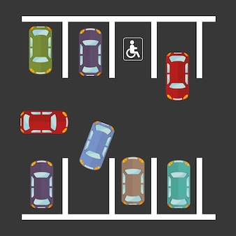 Parkplatzgestaltung