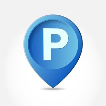 Parkplatzschild lokalisiert auf weiß