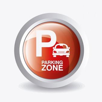 Parkzonen-grafikdesign