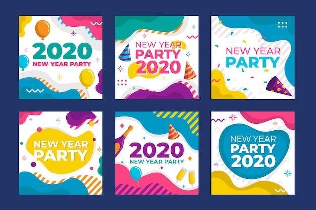 Partei instagram beitragssammlung des neuen jahres 2020
