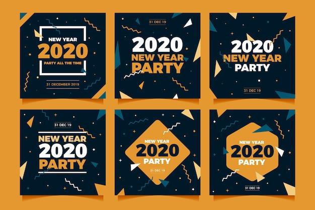 Partei instagram beitragssammlung des neuen jahres
