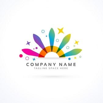 Partei oder cornival logo-konzept