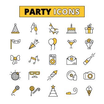 Partei-piktogramme otlined ikonen eingestellt