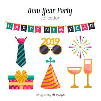 Parteielemente des neuen jahr 2019 eingestellt