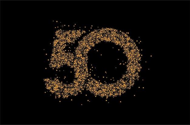 Partikel 50-punkt-text-vektor-vektor-design.