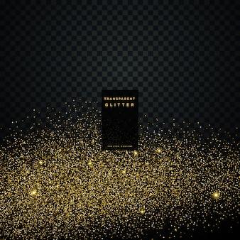 Partikel golden glitter feier hintergrund