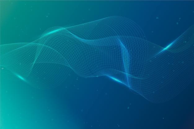 Partikel-hintergrund mit farbverlauf
