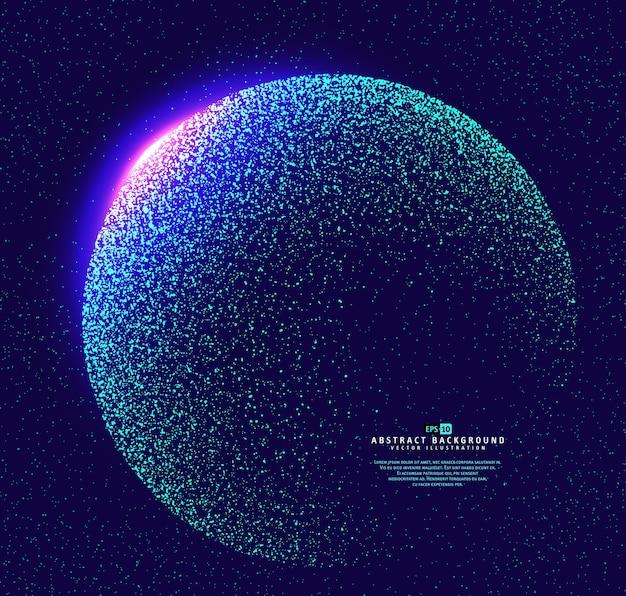 Partikel konstruierten den globus