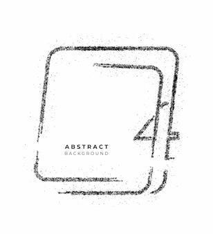 Partikel nummer drei auf dem quadratischen bannertext vector design.