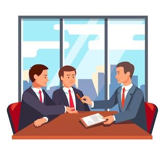 Partnerschaftsabwicklung und abschlussverhandlungen