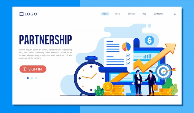 Partnership landing page website