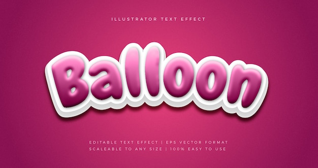 Party ballon text style schriftart effekt