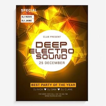 Party-broschüre mit geometrischen formen