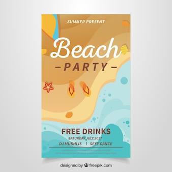 Party-broschüre mit küste