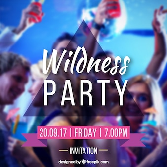 Party einladungsschablone