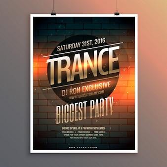 Party-event flyer vorlage einschließlich ort und termin