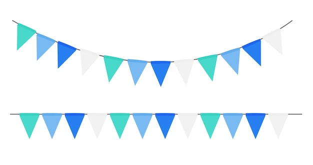 Party flag girlande isoliert
